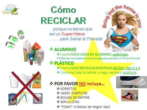 Materiales gratis campus verde - Como reciclar correctamente ...